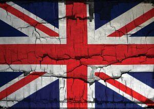 Broken Britain flag image