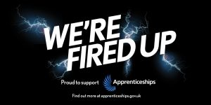 We're Fired Up apprenticeship logo