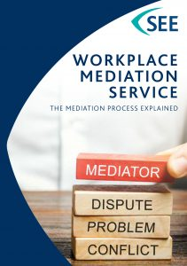 Front cover image of the SEE Mediation Service leaflet