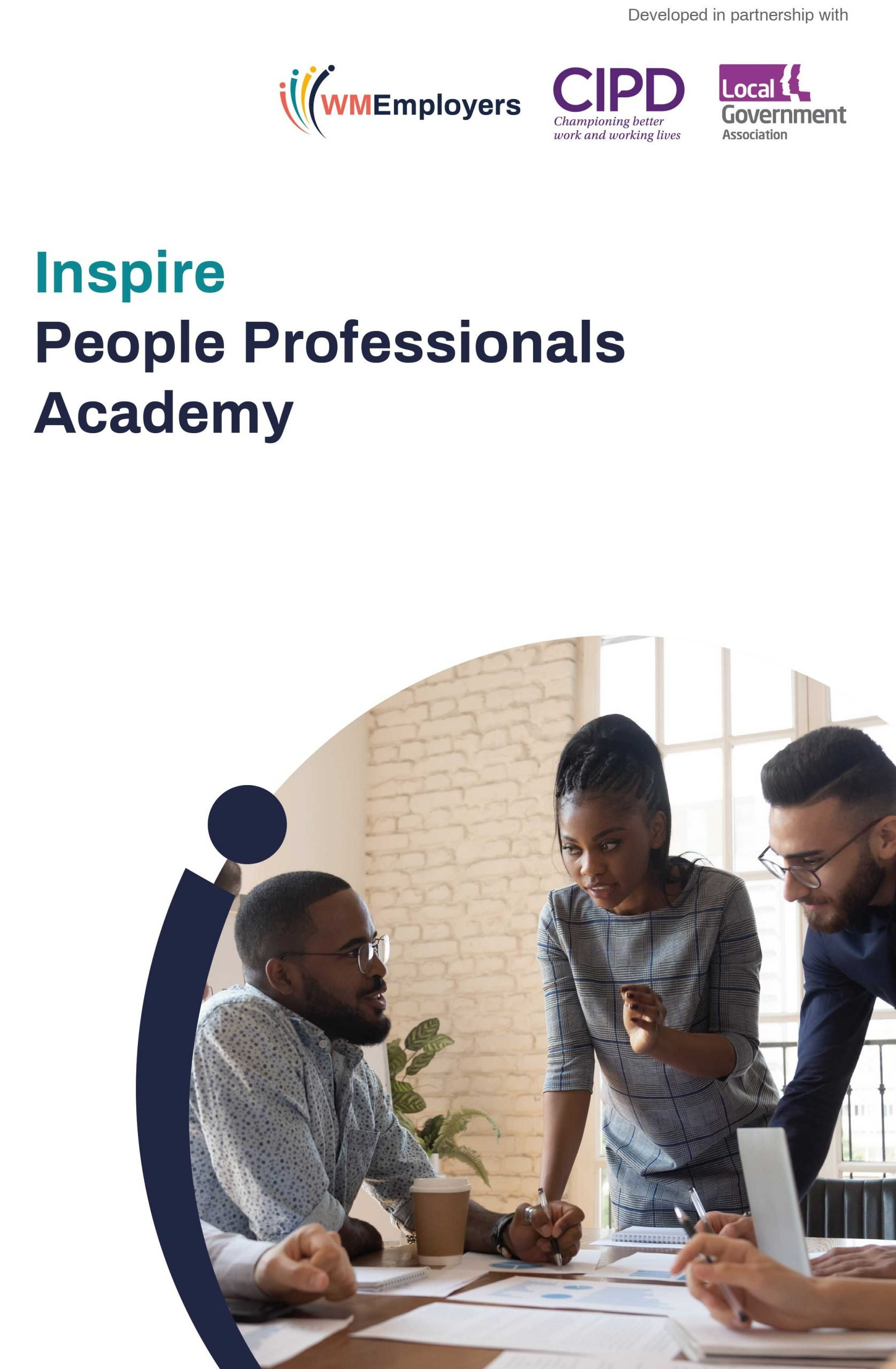 Front cover of the Inspire People Professionals Academy